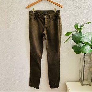 Ann Taylor Olive Green Skinny/ jeggins Jeans Moderm Fit size 2